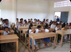 Cambodian school classroom
