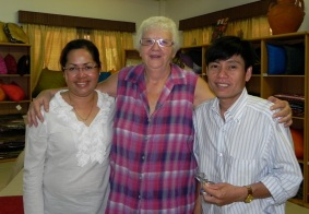 Janne Ritskes (centre) is the founder and director of Tabitha Cambodia.