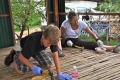 Women hammering